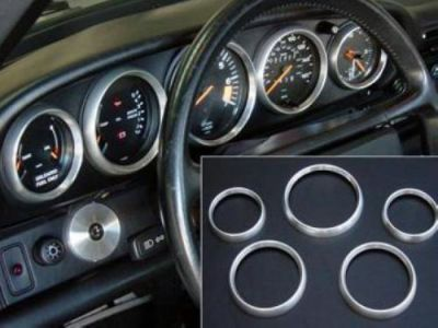 Purchase Porsche 911 Instrument Gauge Bezel Cover Overlays - Machined Aluminum motorcycle in Miami, Florida, United States, for US $99.00