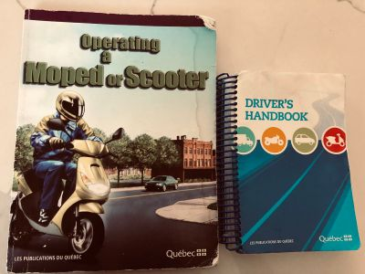 Moped Scooter book for Quebec License