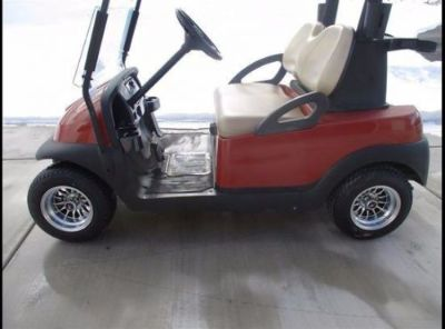Find Golf Car Cart 10 Machined Rim/ black-logo cap, chrome valve stem. Club Car EZGO motorcycle in Peoria, Arizona, United States, for US $99.99