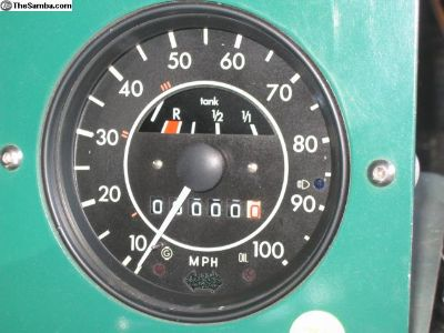 73 & up standard beetle speedo-restored