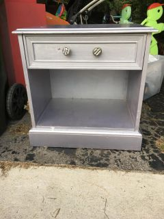 Large nightstand with smooth working drawer