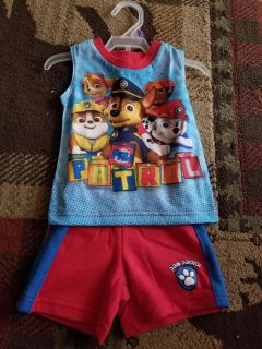 Pawpatrol summer outfit bnwt 12 months