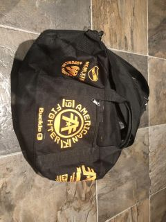 American fighter duffel bag. Approximately 24x12 in. In brand new condition.
