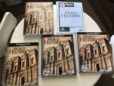 BJU World History- Student and Teacher books and tests