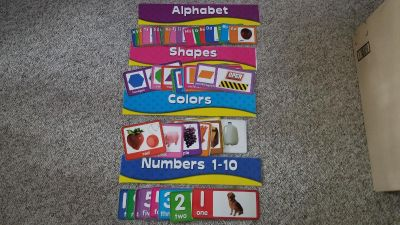Alphabet, Shapes, Colors and Numbers Sets