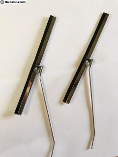 Split Round Chrome Wiper Arms and Blades NEW!