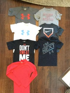 Under Armour and Nike Shirts all size small.