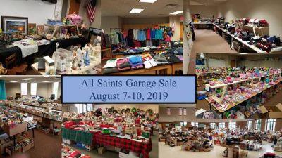 All Saints Garage Sale: Aug 7-10