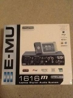 Lightly used E-MU 1616M Cardbus Audio Interface, excellent condition