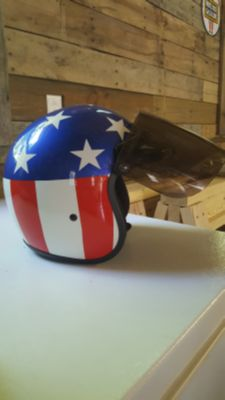 Size small Open faced helmet