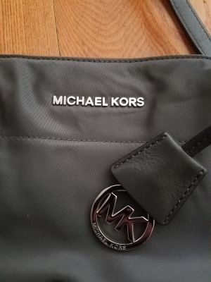 MICHAEL KORS nylon graphite bag