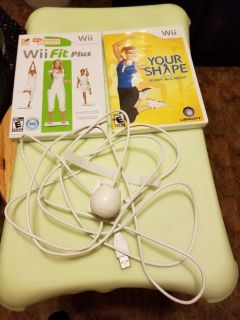 Wii balance board and accessories