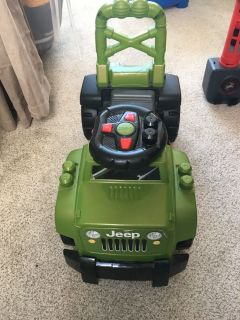 Jeep walking/riding toy