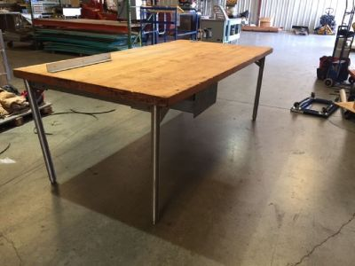 8' X 4' Maple Butcher Block Work Table RTR#7093382-06