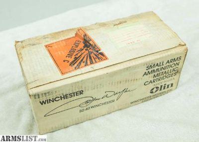 For Sale: Winchester John Wayne Commemorative 32-40 AMMO