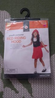 New, Small (4-6) Little Red Riding Hood Costume