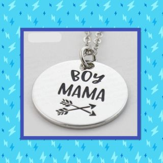 Boy Mama silver pendant necklaces with 18 chain, $3 each!