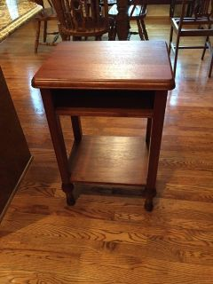 Antique Solid Walnut Side Table