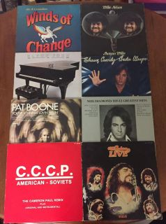 50 Vintage Vinyl Records Albums. $40 For All. CP.