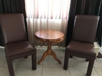 Beautiful chairs & small table