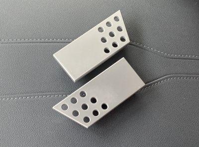 Rennline aluminum door handles in Artic Silver L92U