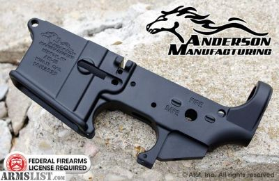 For Sale: Anderson AM15 AR15 Stripped Lower Receiver