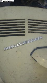 fuel injection bug emblem deck lid