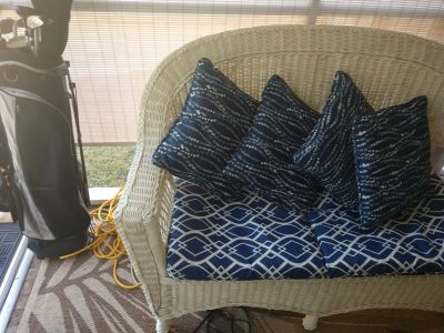 4 PIECE SET WICKER