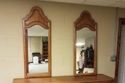 2 dresser mirrors all real wood.