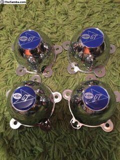 Original Empi 2pc center caps 5 spoke wheel 356