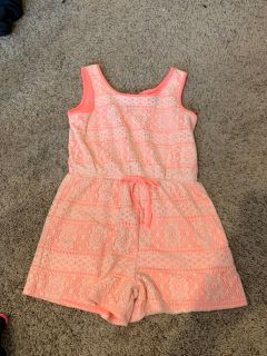 Hot pink Romper - size 14/16