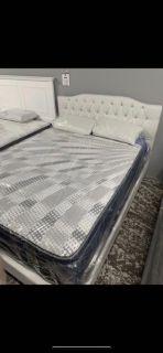 White Diamond Bed Frame