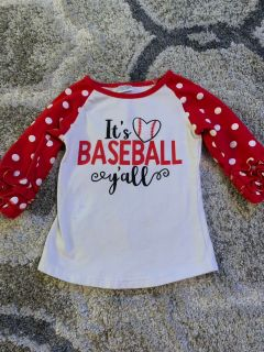 Boutique baseball shirt 4T