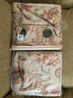 NEW Pier 1 Curtains Drapes Set of 2