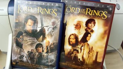 LORD OF THE RINGS DVDs - 2 movies