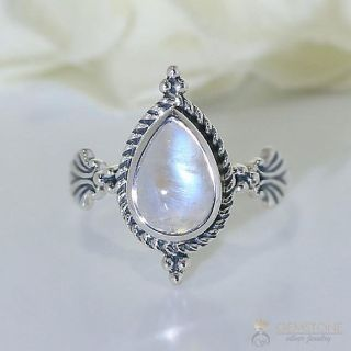 Gemstone ring.