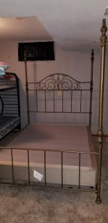 Queen size bed frame with boxspring