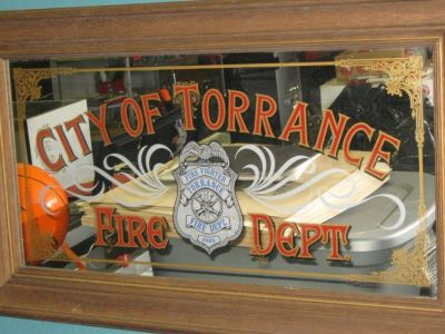 COLLECTIBLE CITY OF TORRANCE FIRE DEPT. MIRROR