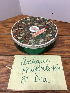 Antique fruitcake tin Porch Pickup Marquette Hts Only