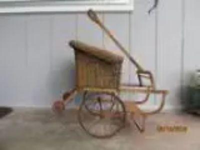 Vinage wicher doll rickshaw (scappoose)