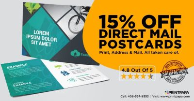 Get 15% off Direct Mail Postcards from PrintPapa