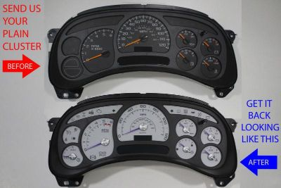 Find CUSTOM TRUCK SPEEDOMETER REBUILD SERVICE + ESCALADE GAUGE TRIM & PURPLE NEEDLES motorcycle in Putnam, Connecticut, US, for US $225.00