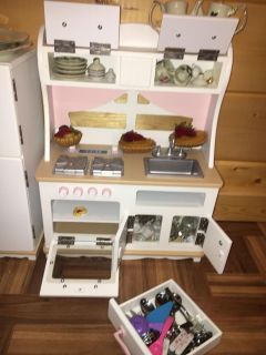 American doll kitchen includes food and refrigerator