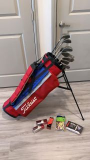 Golf clubs and putter and bag for sale