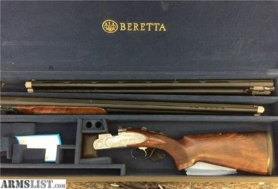 For Sale: Beretta 687 EELL Sporting Hand Engraved & Signed 2 Barrel Set
