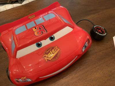 Excellent Vintage Disney Pixar Cars Lightening McQueen Vtech Kids Laptop Learning Computer w Mouse RARE AND HARD TO FIND