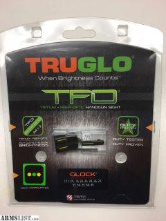 For Sale: TRUGLO TFO (Tritium Fiber Optic) Pistol Sights for Glocks
