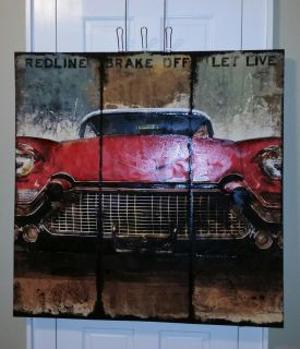 Vintage Look Cadillac oil style print
