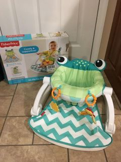 """BRAND NEWFISHER PRICE """"SIT ME UP FLOOR SEATPUT TOGETHER AND HE WAS TOO BIG FOR IT HAVE ALL PACKAGING & PAPERS."""