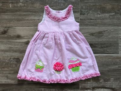 4T Emily Rose seersucker cupcake dress